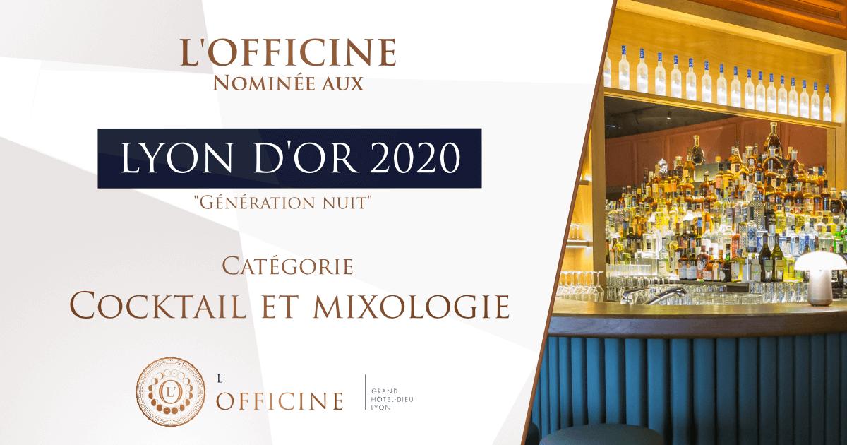Bar à Cocktail Grand Hôtel Dieu Lyon L'Officine