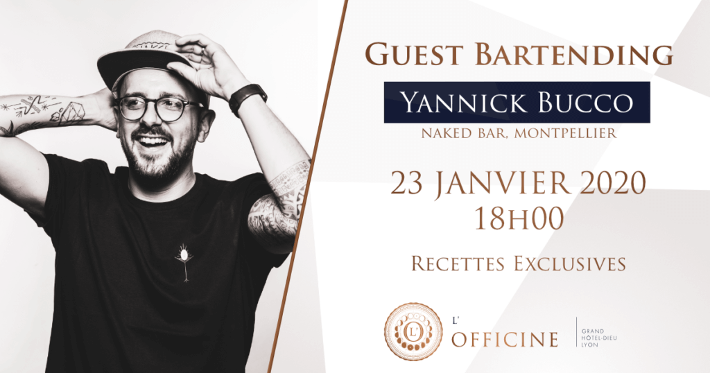 Guestbartending à l'Officine Yannick Bucco