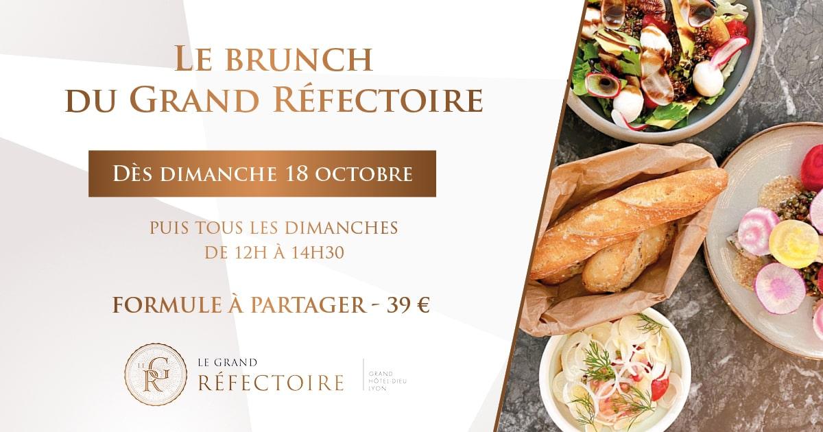 Brunch Le Grand Réfectoire restaurant Lyon Grand Hôtel Dieu