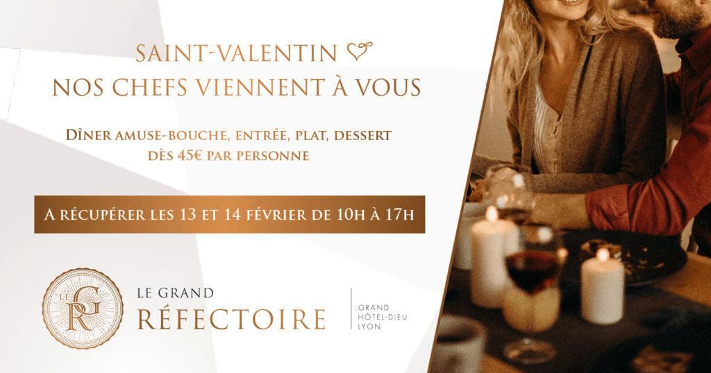 Saint Valentin Lyon menu à emporter